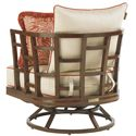 Tommy Bahama Outdoor Living Ocean Club Resort Swivel Grid Back Lounge Chair - Rear View