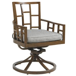 Tommy Bahama Outdoor Living Ocean Club Resort Swivel Rocker Dining Chair