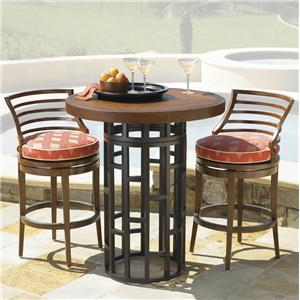 Exceptional Tommy Bahama Outdoor Living Ocean Club Resort 3 Piece Bar Height Bistro  Dining Set