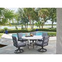 Tommy Bahama Outdoor Living Pavlova 6 Piece Outdoor Table and Chair Set - Item Number: 3910-870+5x13SR