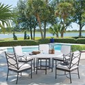 Tommy Bahama Outdoor Living Pavlova 6 Piece Outdoor Table and Chair Set - Item Number: 3910-870+5x3911-13-01