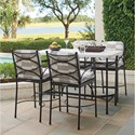 Tommy Bahama Outdoor Living Pavlova 5 Piece Outdoor Hi/Lo Bistro Dining Set - Item Number: 3910-873+4x16