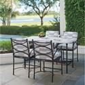 Tommy Bahama Outdoor Living Pavlova 5 Piece Outdoor Hi/Lo Bistro Dining Set - Item Number: 3910-873+4x17