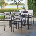 Tommy Bahama Outdoor Living Pavlova 5 Piece Outdoor Hi/Lo Bistro Dining Set - Item Number: 3910-873+4x3911-16-01