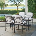 Tommy Bahama Outdoor Living Pavlova 5 Piece Outdoor Hi/Lo Bistro Dining Set - Item Number: 3910-873+4x3911-17-01