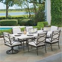 Tommy Bahama Outdoor Living Pavlova 7 Piece Outdoor Dining Set - Item Number: 3910-876+2x3911-13SR-01+4x13
