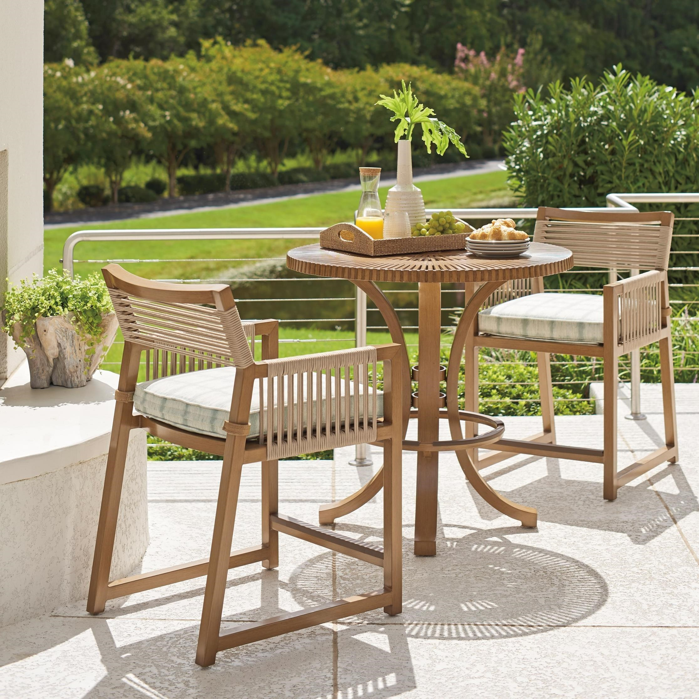 St Tropez 3-Piece Outdoor Bistro Set w/ Counter Stools by Tommy Bahama Outdoor Living at Baer's Furniture