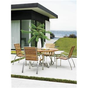 Tommy Bahama Outdoor Living Tres Chic 5 Piece Outdoor Dining Set