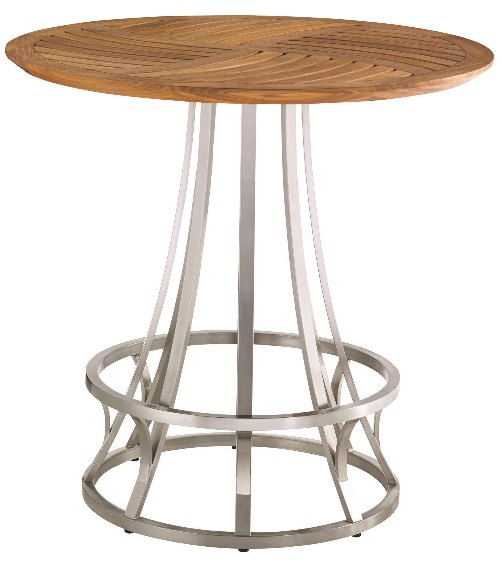 Tommy Bahama Outdoor Living Tres Chic Bistro Table - Item Number: 3401-873TT+3401-873BB