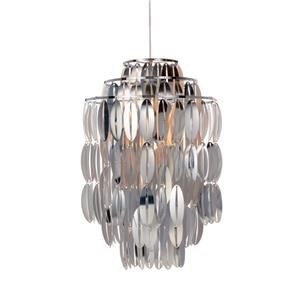Torre & Tagus Pendant Silver Loop Lamp