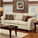 Townhouse 3100 Contemporary Flared Track Arm Sofa with Accent Pillows