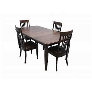 Trailway Wood Nashville Amish 5-Piece Dining Set