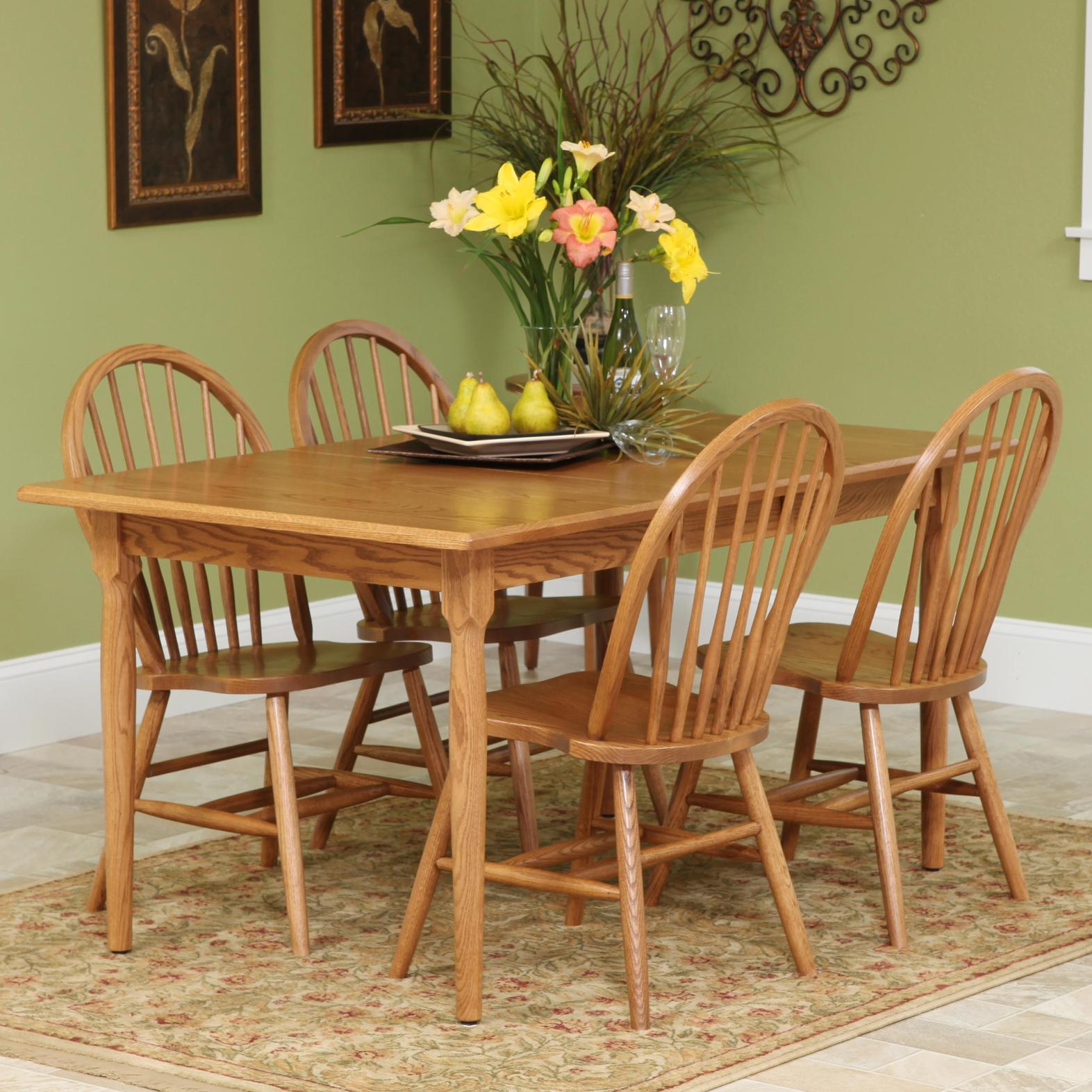 Americana 5 Piece Set by Trailway Amish Wood at Rooms and Rest