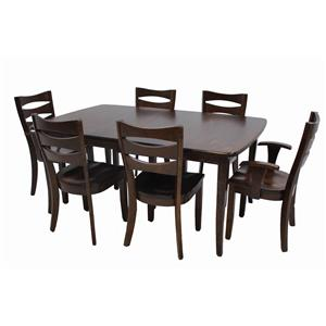 Trailway Wood ALT3648 7-Piece Amish Dining Set
