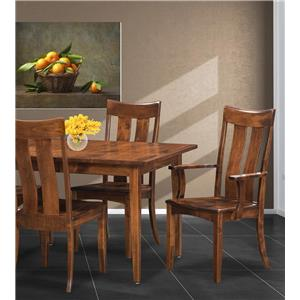 Trailway Wood Arlington 5-Piece Customizable Table & Chair Set