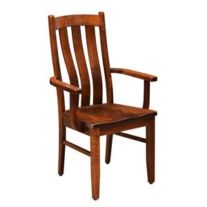 Trailway Wood Arlington <b>Customizable</b> Arm Chair