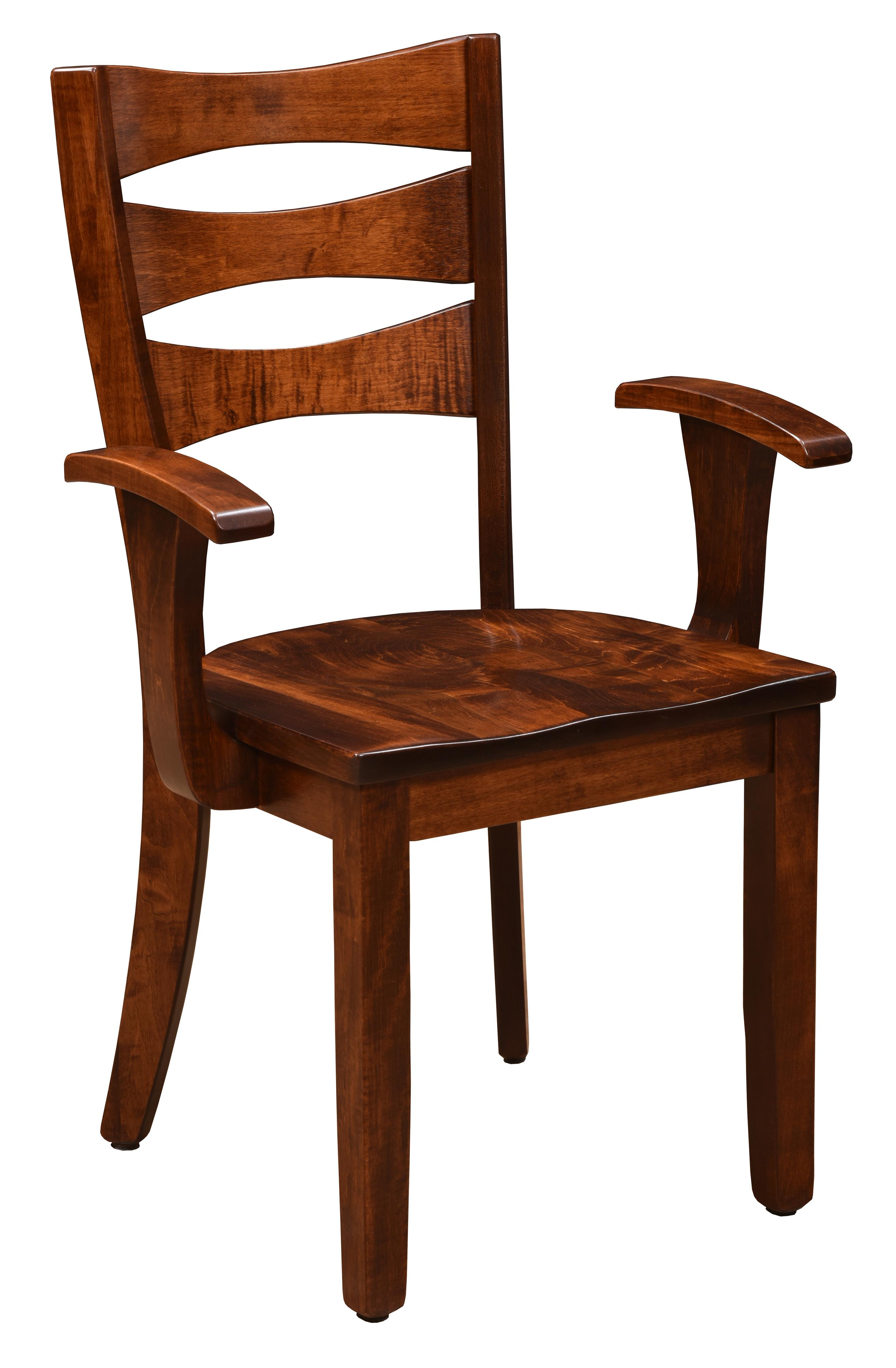 Arlington <b>Customizable</b> Arm Chair by Trailway Amish Wood at Rooms and Rest