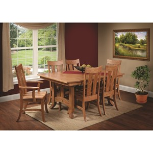Rotmans Amish Biltmore Table and Chair Set