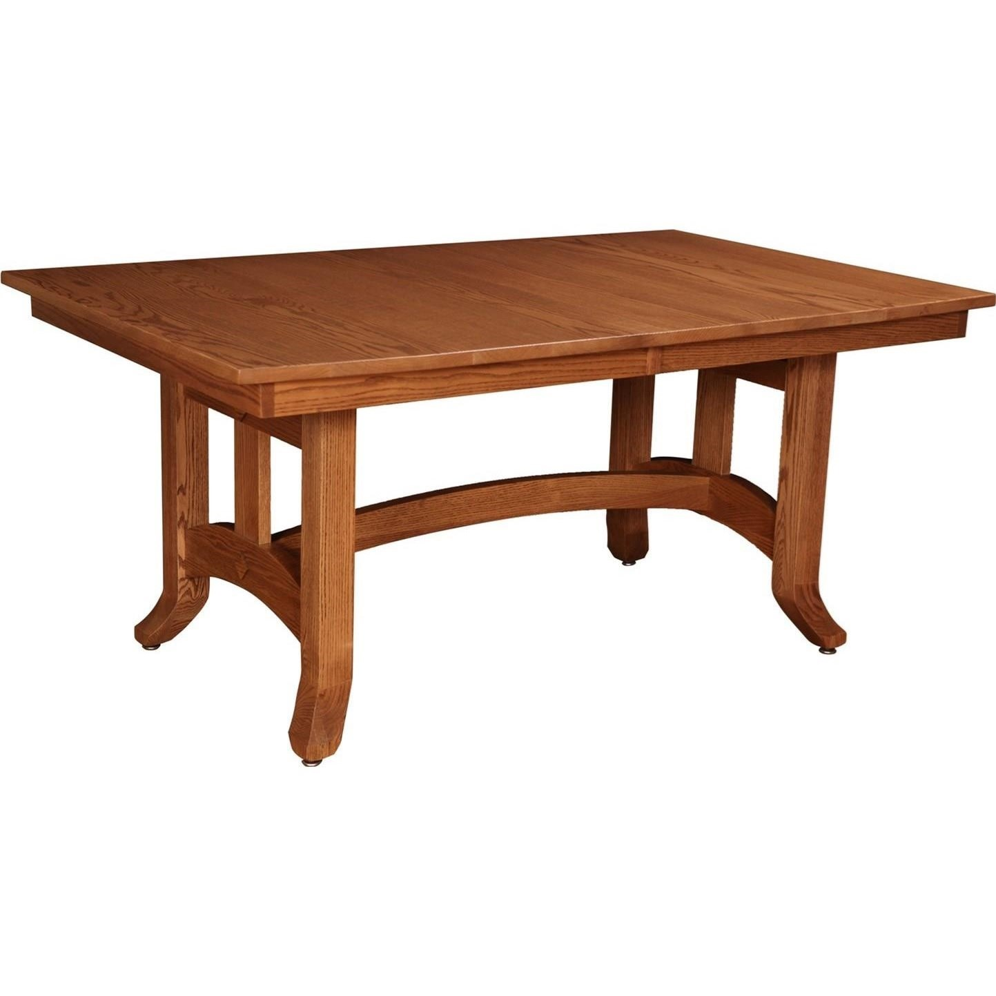 Rotmans Amish Biltmore Dining Table with Apron and Two Leaves