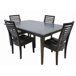 Trailway Wood Casual Comfort 5-Piece Amish Dining Set