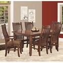 Rotmans Amish Easton Pike 7 Piece Dining Set - Item Number: EP4266-2L+2x853-AP+4x852-SP