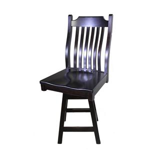 Trailway Wood Brookfield Swivel Bar Stool