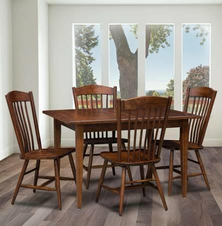 Trailway Wood Freeport 5-Piece Solid Wood Dining Table Set - Item Number: FP3654-2L+4x902-S