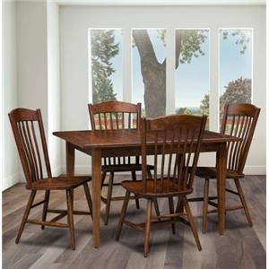 Trailway Wood Freeport 5-Piece Solid Wood Dining Table Set
