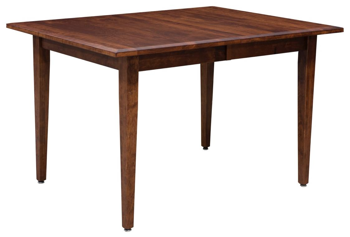 Trailway Wood Freeport <b>Customizable</b> Dining Table w/ 2 Leaves - Item Number: FP3654-2L