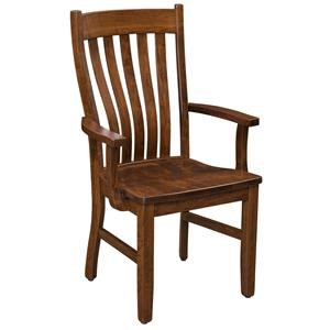Trailway Wood STM Solid Wood Amish Arm Chair