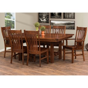 Rotmans Amish Sutter Mills 7 Piece Dining Set