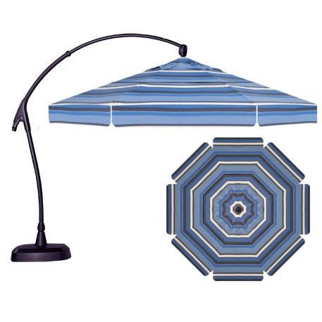 Cantilever Umbrellas 11' Cantilever Octagonal Umbrella by Treasure Garden at Wilson's Furniture