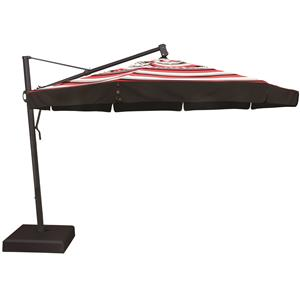 Treasure Garden Cantilever Umbrellas 11' Cantilever Ocatagonal Umbrella with Double Wind Vent and Valance