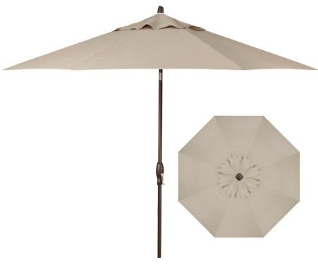 Belfort Umbrellas Market Umbrellas 11' Auto Tilt Market Umbrella - Item Number: UM8120DWV-4822