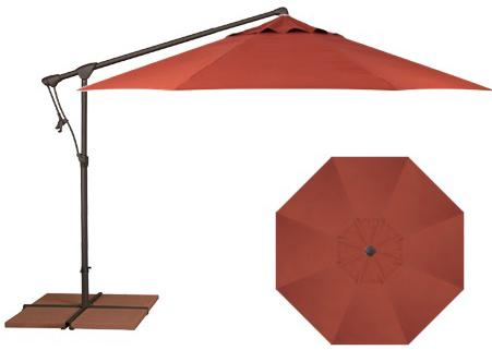 Belfort Umbrellas Cantilever Umbrellas 10' Cantilever Umbrella - Item Number: AG19-00-4807