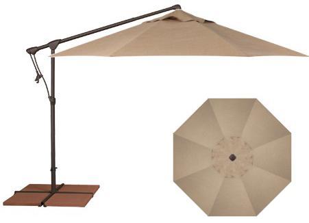 Belfort Umbrellas Cantilever Umbrellas 10' Cantilever Umbrella - Item Number: AG19-00-4818