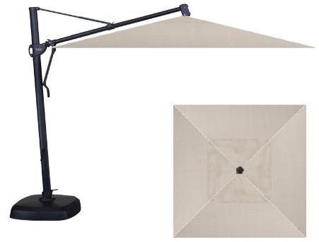 "Belfort Umbrellas Cantilever Umbrellas 10"" Square Cantilever Umbrella with Base - Item Number: AKZSQ-09-4800+AKZ-00"