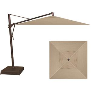 "Treasure Garden Cantilever Umbrellas 10"" Square Cantilever Umbrella with Base"