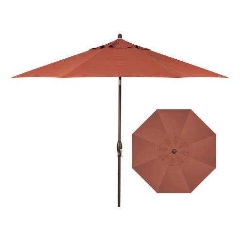 Belfort Umbrellas Market Umbrellas 9' Auto Market Tilt Umbrella - Item Number: UM8100-Bronze-4815
