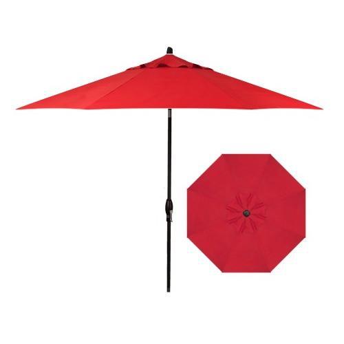 Belfort Umbrellas Market Umbrellas 9' Auto Market Tilt Umbrella - Item Number: UM8109-BLACK-4803