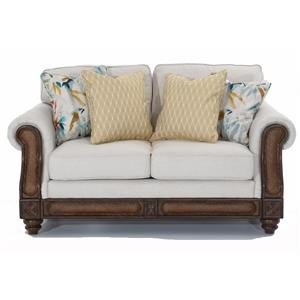 Rattan Detail Loveseat