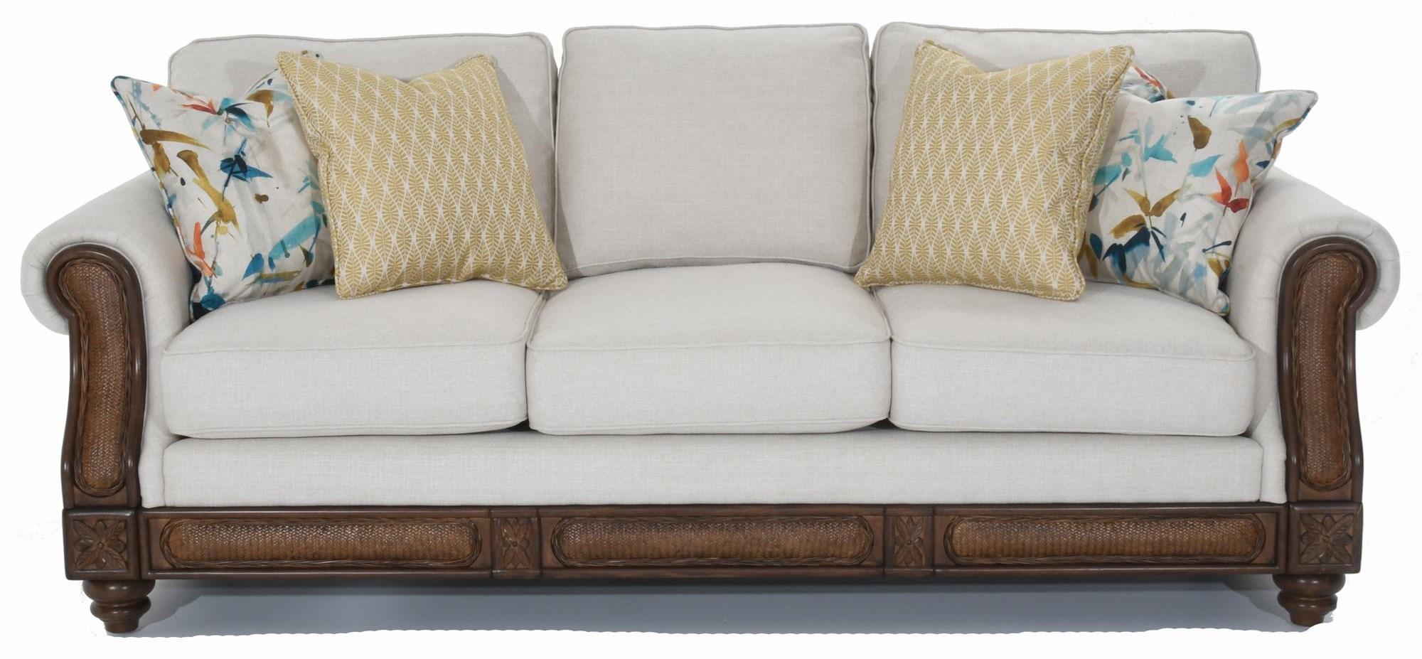 Rattan Detail Sofa