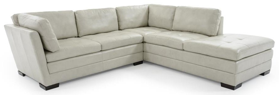 Trend Resources International Emmerson 2 Pc Leather Sectional - Item Number: 6909-70+6909-49R 117135
