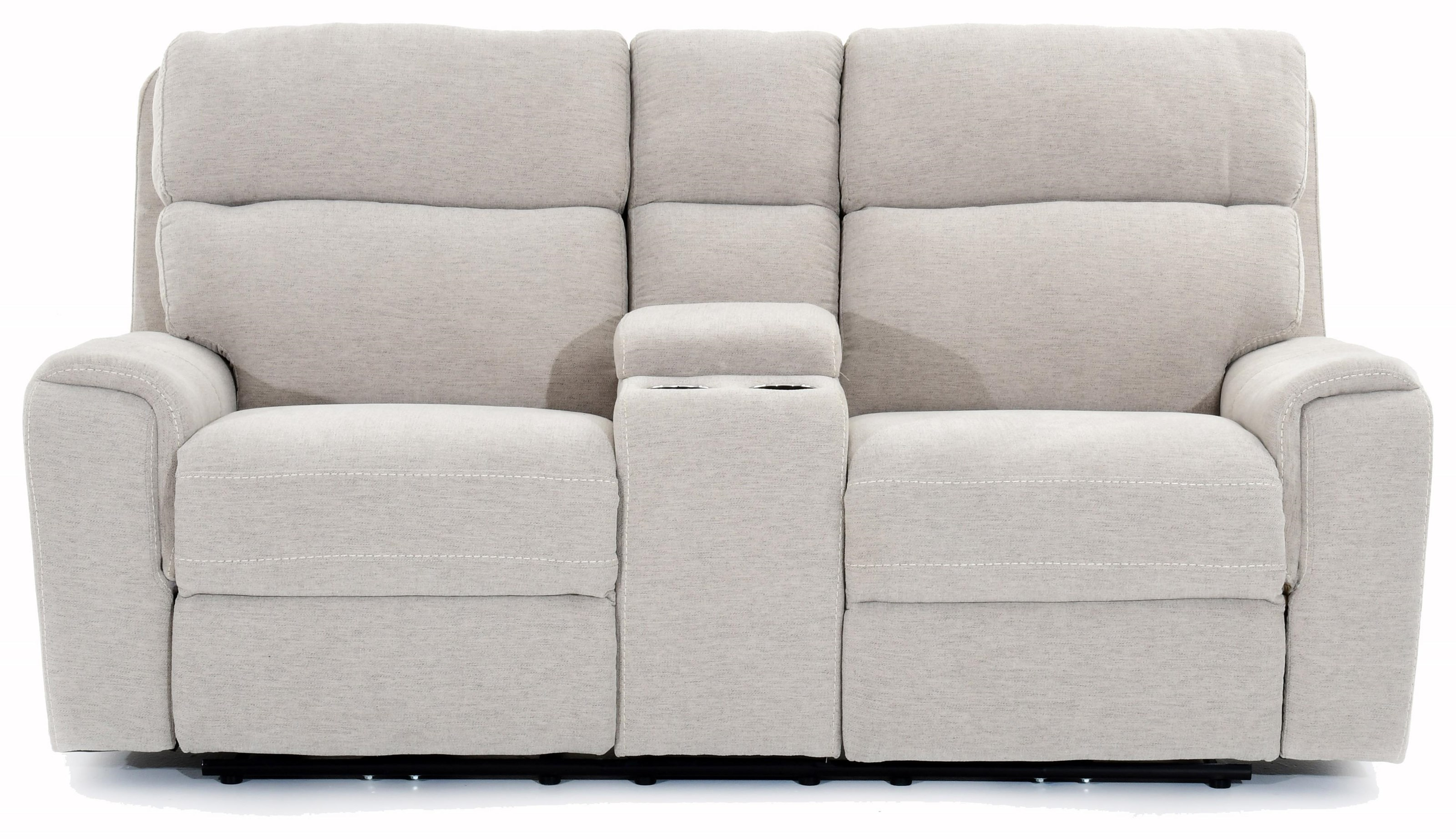 Oberon Power Motion Console Loveseat by Trend Resources International at Baer's Furniture