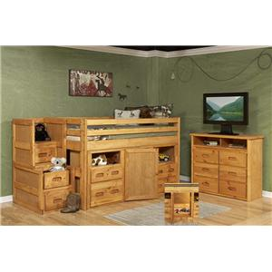 Junior Loft Twin Storage Bed