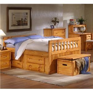 Trendwood Bayview Bayview Twin Captain's Bed