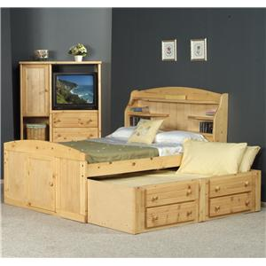 Trendwood Bayview Twin Dakota Bed with Trundle