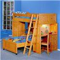 Trendwood Bayview Twin/Twin Loft Bed - Item Number: 4742+43+44+45+90+93CI+4846+47CI