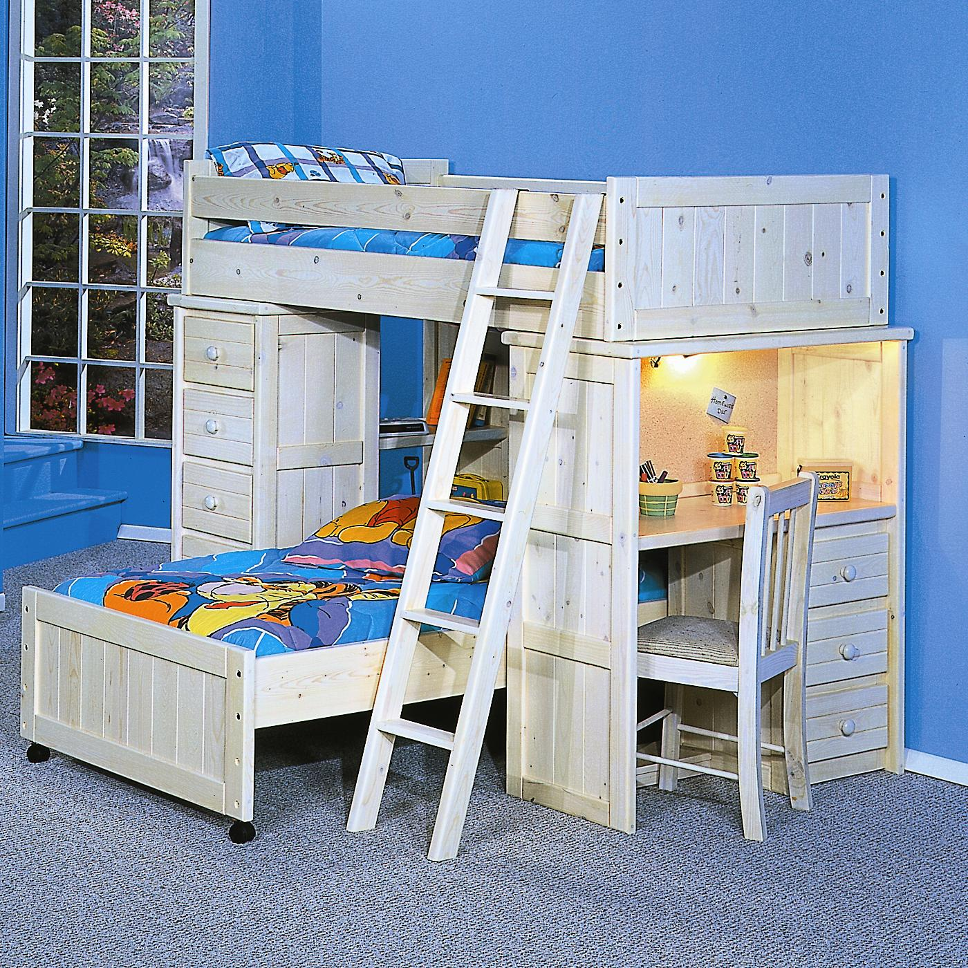 Trendwood Bayview Twin/Twin Loft Bed   Item Number: 4742+43+44