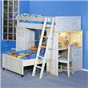 Trendwood Bayview Twin/Twin Loft Bed - Item Number: 4742+43+44+45+90+93WW+4846+47WW